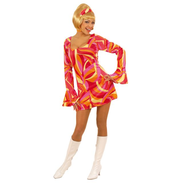 widmann robe seventies rose d guisement ann es 70 disco. Black Bedroom Furniture Sets. Home Design Ideas