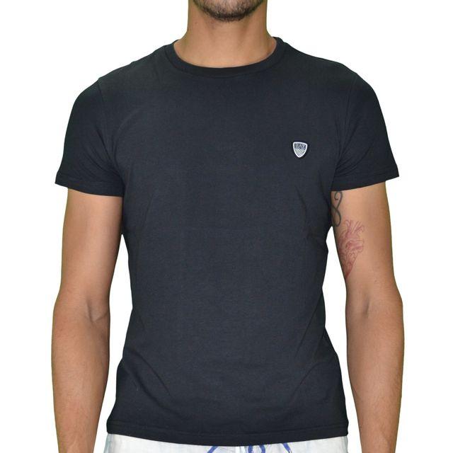 Armani - Ea7 Emporio - Tshirt Manches Courtes - Small Ecusson Tee - Noir ce6c3ff3278