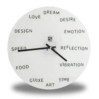 Totalcadeau - Horloge murale avec mots anglais