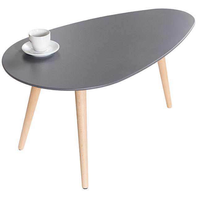 Comforium Table basse design en mdf coloris gris