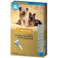 Bayer - Pack 3 X Advocate Antiparasitaire Chiens De 4 À 10 Kg