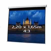 Kimex - Ecran de projection électrique 2,20 x 1,65m, format 4:3