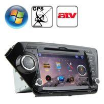 Autoradio-Rungrace 8 0 pouces Windows Ce 6 0 écran Tft dans le tableau de  bord lecteur Dvd de voiture pour Kia K2 avec Bluetooth / Gps / Rds / Atv