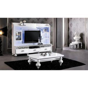 chloe decoration - meuble tv colonne laqué collection alexandris ... - Meuble Tv Colonne Design