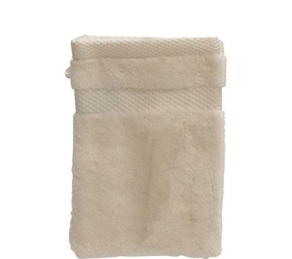 tex home lot de 2 gants de toilette eponge bio ecru. Black Bedroom Furniture Sets. Home Design Ideas