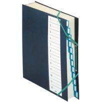 Extendos - trieur plastique + elastique 12 compartiments bleu