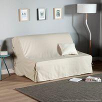 Comptoir Des Toiles - Housse de Bz unie à nouettes 100% coton bachette pour couchage 140x190cm Teo