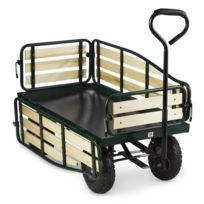 WALDBECK - Ventura Chariot remorque de transport à main > 300 kg acier - noir