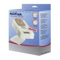 Nilfisk - Sacs Synthétiques x4 + Pré-Filtre Select Power Ref. 107407639