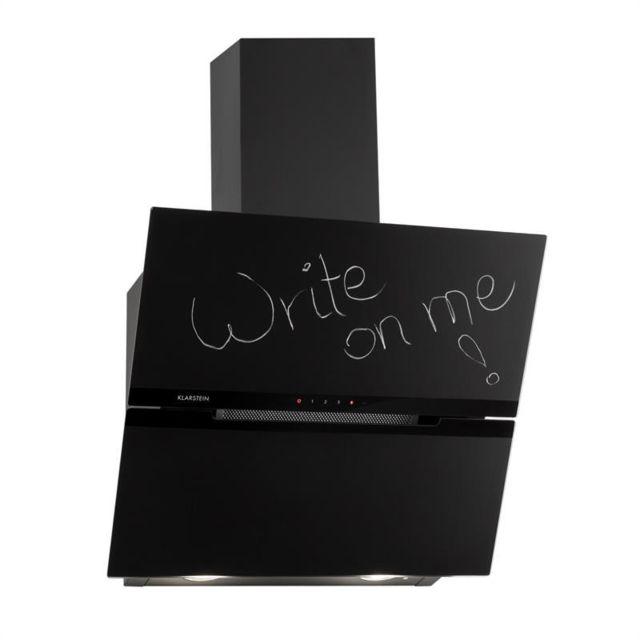 KLARSTEIN Sancta Clara 60 Hotte aspirante 60cm 620 m³/h Blackboard verre noir