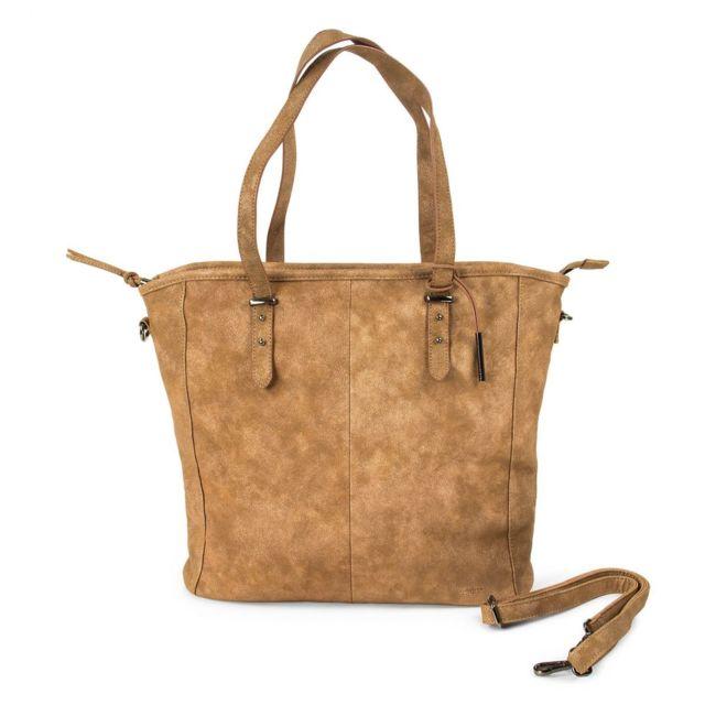38299537f8 Ddp - Grand sac à main marron irisé femme - pas cher Achat / Vente Sacs à  main - RueDuCommerce