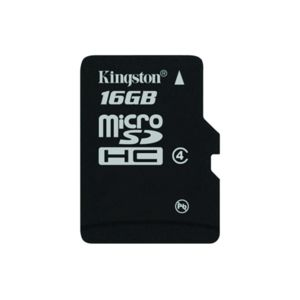 KINGSTON - Carte Mémoire Micro SDHC - 16 Go - Classe 4 - SDC4/16GB + Adaptateur SD fourni