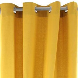 alin a alm ra rideau illets 140x250cm jaune curry pas cher achat vente rideaux. Black Bedroom Furniture Sets. Home Design Ideas