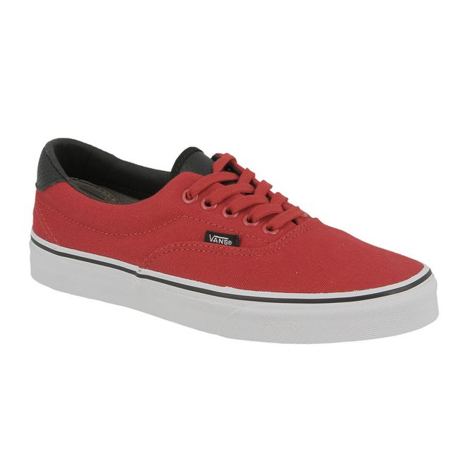 basket vans red black