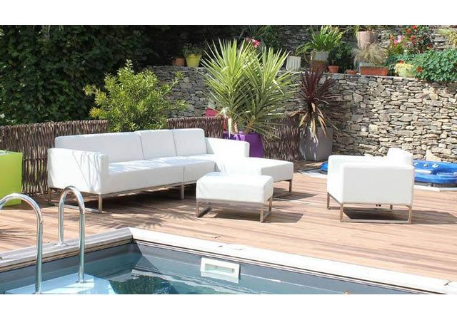 Résidence - Salon Bas Design Blanc Modulable 6/7 Places - Ari - pas ...