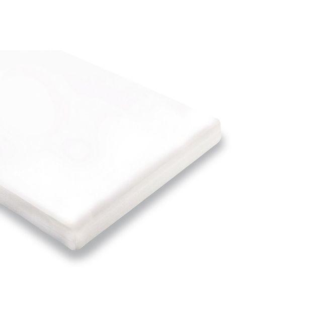 Comforium Matelas en mousse pour lit enfant 90x200 cm coloris blanc