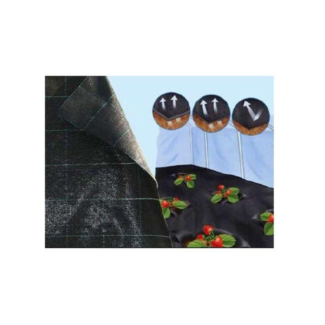 univers du pro toile de paillage noire 10 ml x haute qualit 100gr m2 105cm x 1000cm. Black Bedroom Furniture Sets. Home Design Ideas