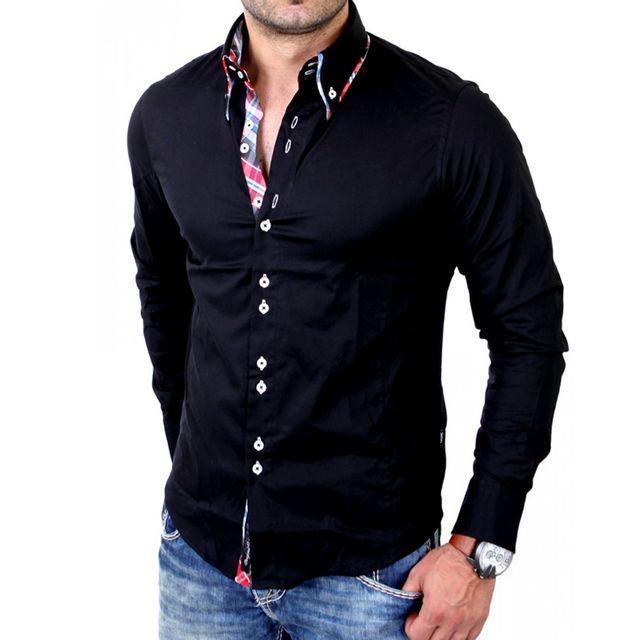 c4f9d3ecae8b8 Carisma - Chemise fashion homme Chemise Crsm110 noir - pas cher ...