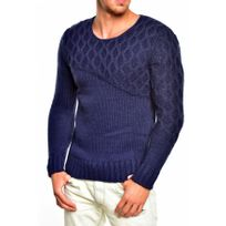 Beststyle - Pull homme bleu tendance