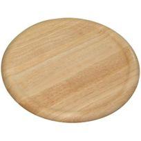 Kesper - Plat à pizza en bois de caoutchouc Ø 32 cm x 2 cm