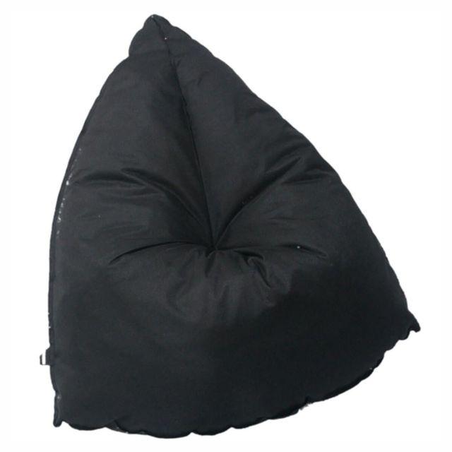 Altobuy Gellyg - Pouf d'Extérieur Tissu Coloris Noir