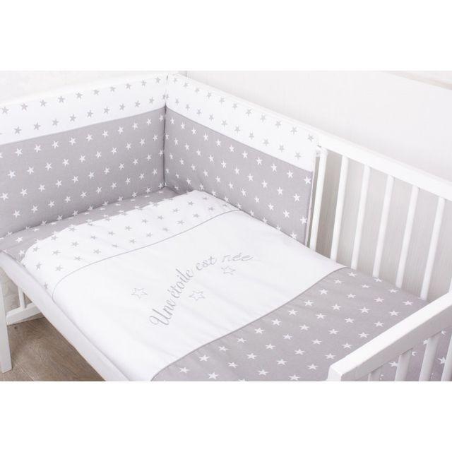 sevira kids parure de lit b b avec tour de lit d houssable une toile est n e 3 pi ces. Black Bedroom Furniture Sets. Home Design Ideas