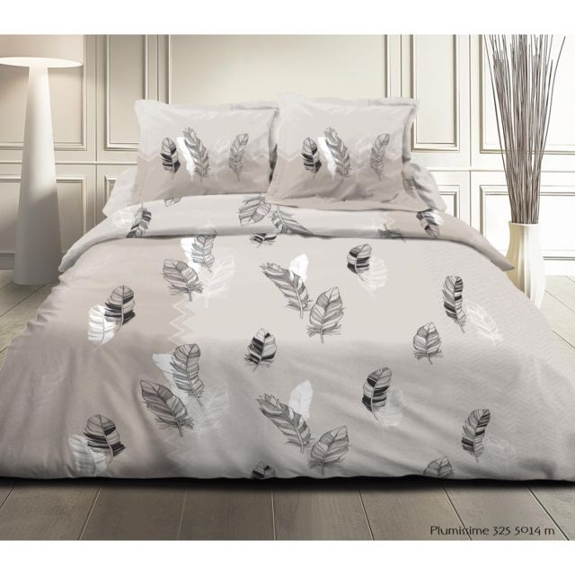 univers decor parure de couette 3 pi ces 240 x 260 grande largeur plumes 100 coton 57 fils. Black Bedroom Furniture Sets. Home Design Ideas