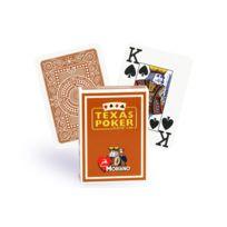 Modiano - Cartes Texas Poker 100% plastique marron