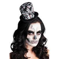 Mini chapeau haut de forme squelette femme Halloween - taille - Taille  Unique - 235553 03d7138a3fa