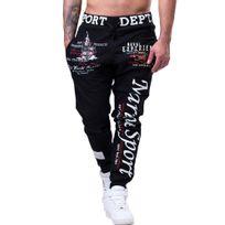 Marque Generique - Jogging homme fashion Jogging 551 noir imprimé