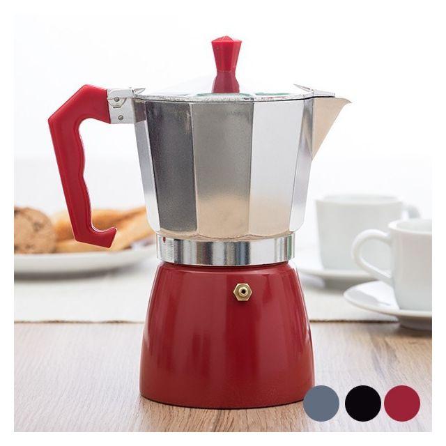 Totalcadeau Cafetière Old Style Italienne rétro vintage Couleur - Rouge