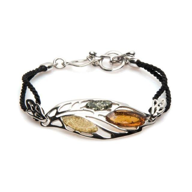 La Maison De L'AMBRE Bracelet argent ambre multicolore