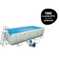 INTEX - Piscine tubulaire rectangulaire - 4,57 x 2,74 x 1,22 m