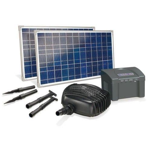 Esotec - Kit pompe solaire bassin Garda Plus 50W avec batterie - pas ...