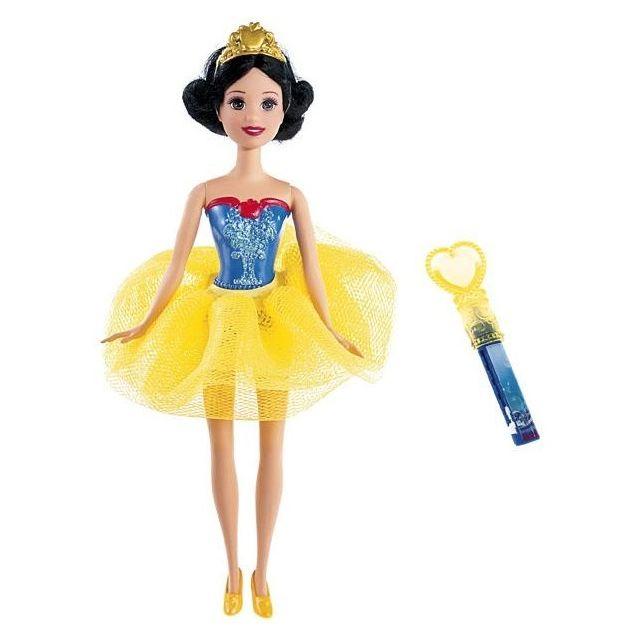 Otto Disney Princess - Poupee Blanche Neige Aquatique 30cm - Dessine sur son corps avec le crayon et efface avec la fleur de
