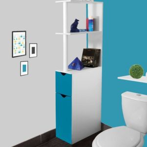 idmarket meuble wc tag re bois gain de place pour. Black Bedroom Furniture Sets. Home Design Ideas