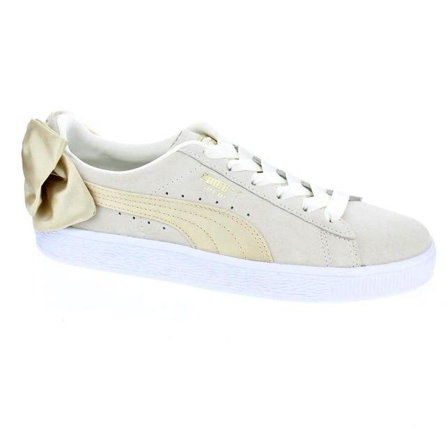 chaussure puma femme beige