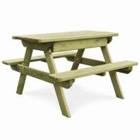 Table de pique-nique avec bancs Bois de pin imprégné Fsc | Vert - Meubles  de jardin - Tables d\'extérieur | Vert | Vert