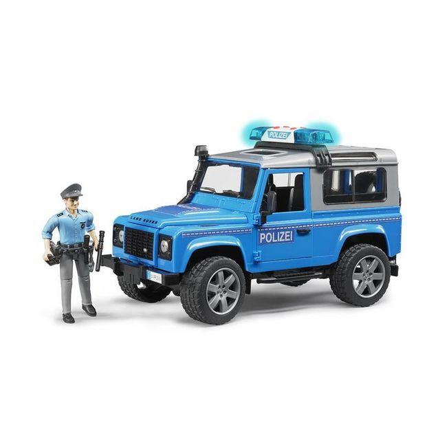 Bruder 02597 Land Rover Defender - Véhicule d'intervention de Police