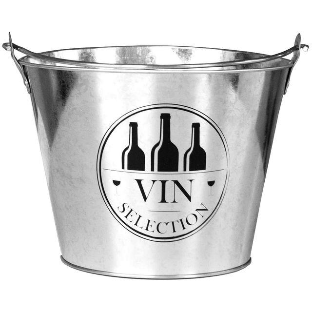 Promobo Seau A Bouteille En Zinc 8L Design Bistrot Apéro Vin Et Champagne