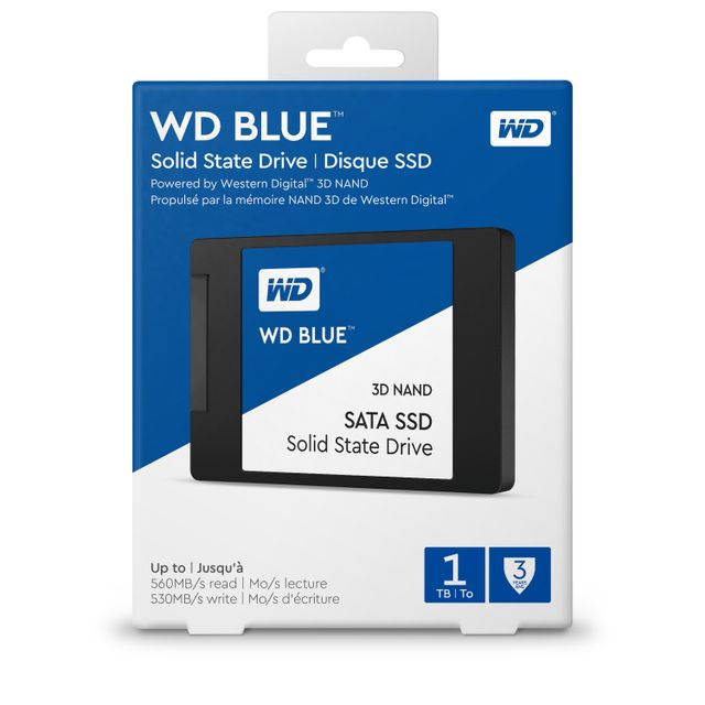 WESTERN DIGITAL - SSD interne 2,5 WD BLUE 500 Go SATA III NAND 3D
