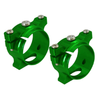 RakonHeli - Support de tube carbone alu vert Pod 250 - Rakon Heli