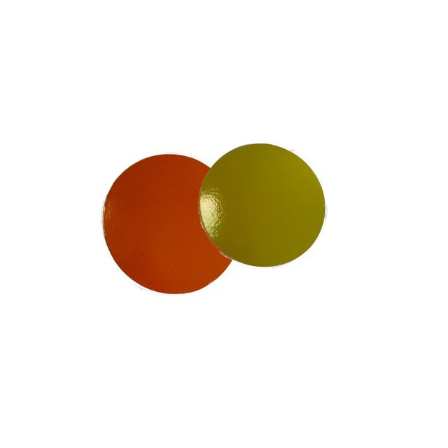 Rond cartonné citron/orange 26 cm
