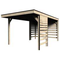 DECORETJARDIN - Carport en bois massif - 13 m²