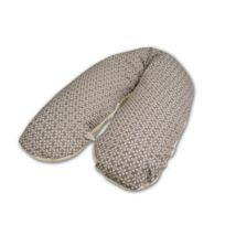 Modulit - Coussin d'allaitement 'Taupe Pétales/Bambou' 180 cm Natal Baby