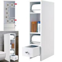Idmarket - Meuble rangement wc distributeur rouleaux