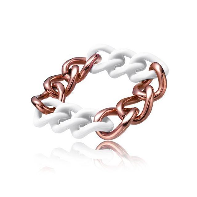 plus récent cfe14 b7411 Bracelet pour femme couleur chaine bronze et blanc - Bijou pour femme  cadeau St valentin