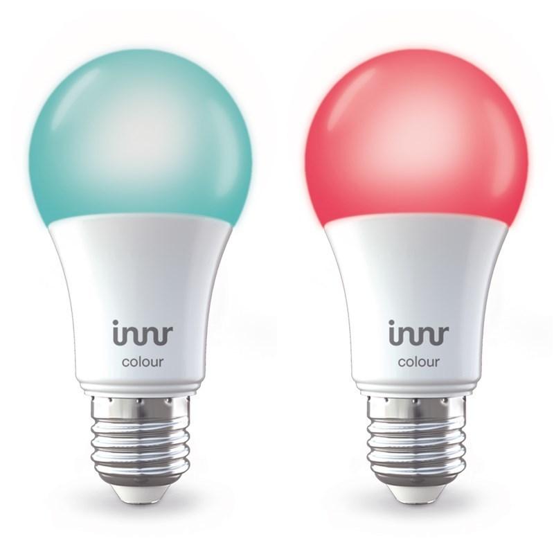 Ampoule Led connectée - Type E27 - Multicolor + Blanc variable 2000K à 6500K - Intensité variable - ZigBee - Pack de 2
