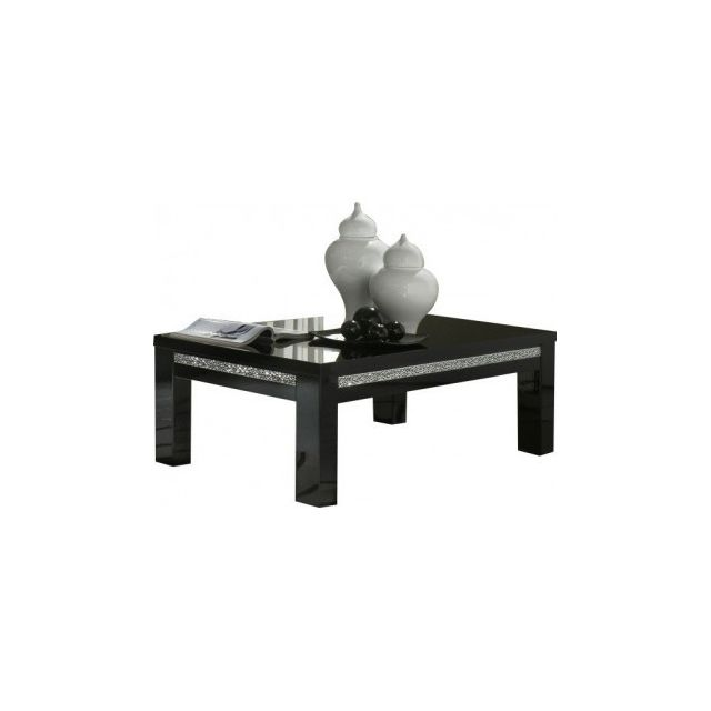 Decodesign Table Basse Rectangle Cromo Laque Noir