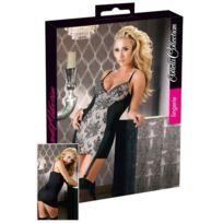 Cottelli - Mini-robe avec jarretelles - Noir/Creme - Taille 95B